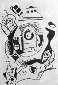 Zeichnung auf Papier 2016