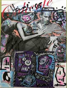 ArtCard, übermalte Postkarte, DIN-A6