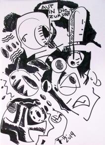 Zeichnung auf Papier 2014