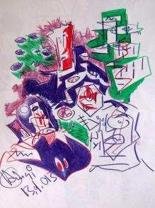 Zeichnung auf Papier 2013