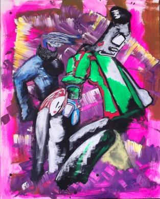 """""""Die drei Grazien"""" - 80 x 100 cm, Akryl auf Leinwand, 2015"""