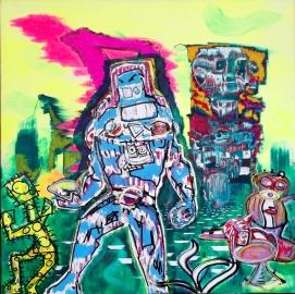 """""""Fortschritt"""" - 100 x 100 cm, Akryl auf Leinwand, 2014"""