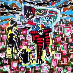 """Königsmord"" - 80 x 80 cm, Akryl auf Leinwand, 2012"