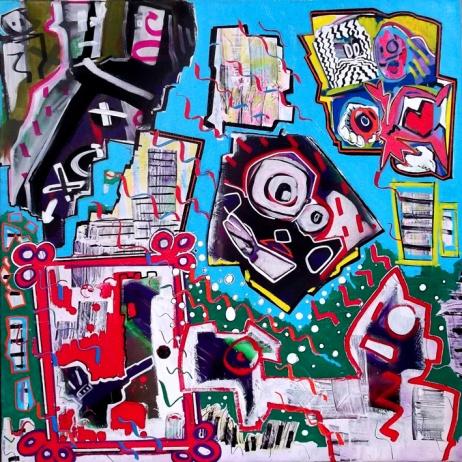 """""""Das Glück"""" - 80 x 80 cm, Akryl auf Leinwand, 2012"""