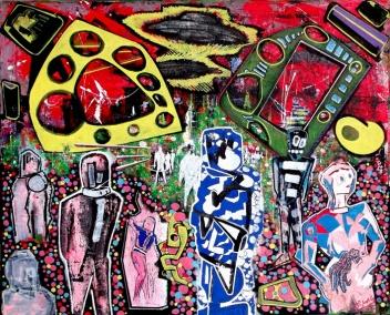 """""""Geisha"""" - 65 x 80 cm, Akryl auf Leinwand, 2007"""