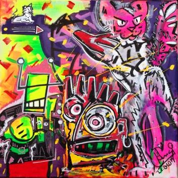 """Der große Sprung"" - 30 x 40 cm, Akryl auf Leinwand, 2014"