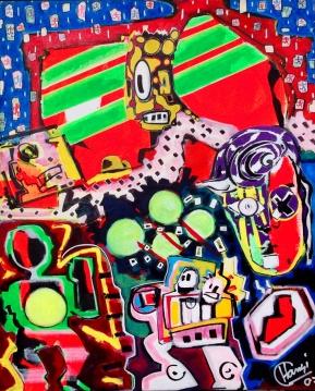 """Die Täuschung"" - 65 x 80 cm, Akryl auf Leinwand, 2007"