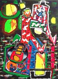 """""""Durchgangswelt"""" - 60 x 80 cm, Akryl auf Leinwand, 2015"""
